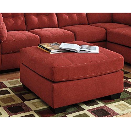 Flash Furniture Benchcraft Maier Oversized Accent Ottoman in Sienna Microfiber