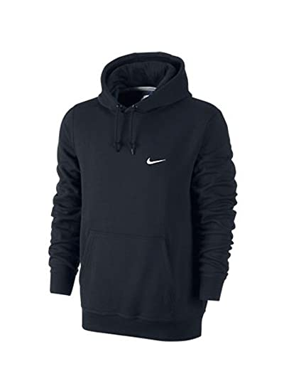 d52ec1bff7 Nike Mens Club Pull Over Hoodie Obsidian Navy Blue White 611457-473 Size  Small