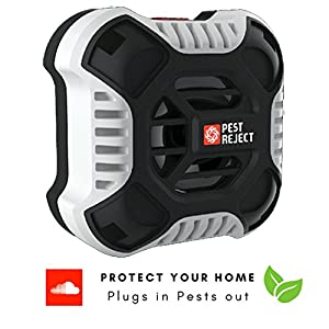Packsfield Ultrasonic Pest Repeller - Electronic Plug In For Indoor Outdoor Sonic Rodent Repellent Control - Spray And Poison Free - Mouse Insect Roach Rat And Other Animal Pests - Upgraded 2018 Desig