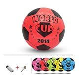 Inflatable Soccer Balls Pool Party Favor Beachballs Birthday Red,8.3''
