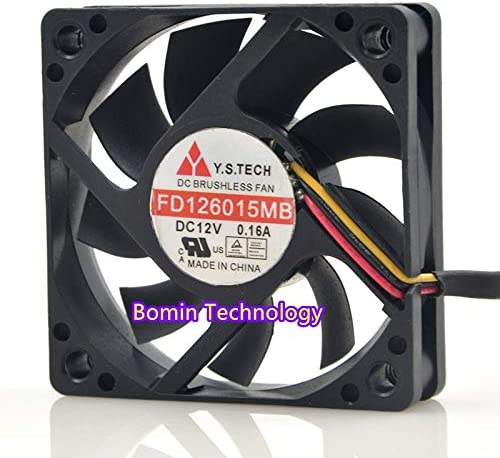 Bomin Technology for Y.S.TECH FD126015MB 12V 0.14A 6CM Cooling Fan