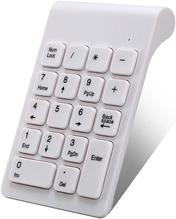 ZUEN USB Teclado Multi-Function línea de Datos Digital Keyboard Hub Contabilidad financiera Caja registradora Teclado del Ordenador,White: Amazon.es: Deportes y aire libre