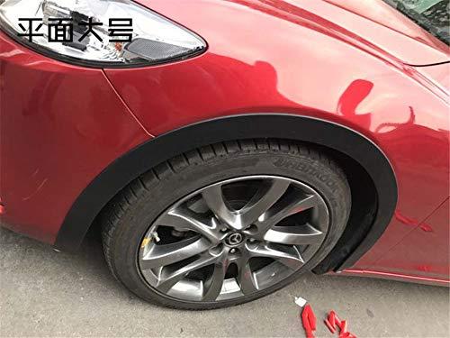 FidgetFidget Trim Fender 2x 59 Universal Car Wheel Arch Flares Protection Strip Rubber Black
