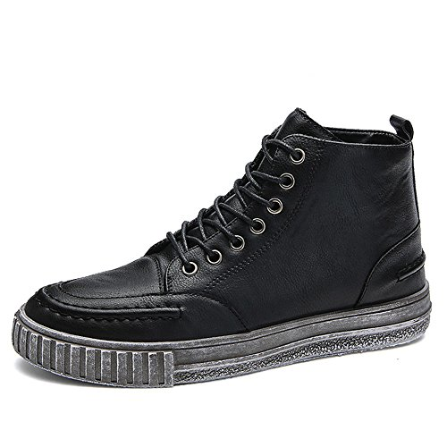 Autumn Men's 3 High Shoes CN44 Help EU43 Plate Retro Spring Color Black Size Feifei UK9 and Shoes Colors Leisure A0Pw0xIr