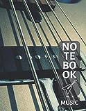 Music Notebook For Guitar: Blank Sheet Music