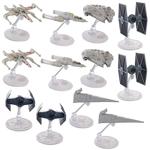 Hot Wheels  Star Wars Starships Millennium Falcon X Wing Y W