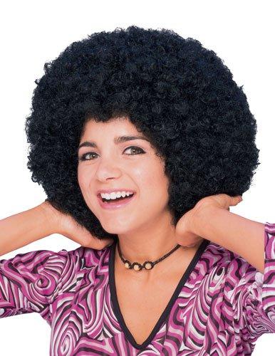 Rubie's Humor Mid Length Afro Black Wig, Black, One ()