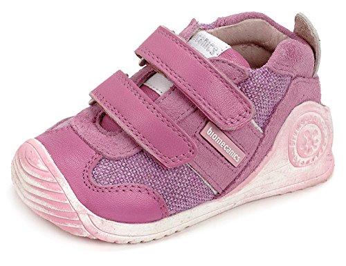 BIOMECANICS - Pink Schuh aus Leder und Wildleder, ideal zum Krabbeln und zum Laufen lernen, aus leichten, Baby Mädchen