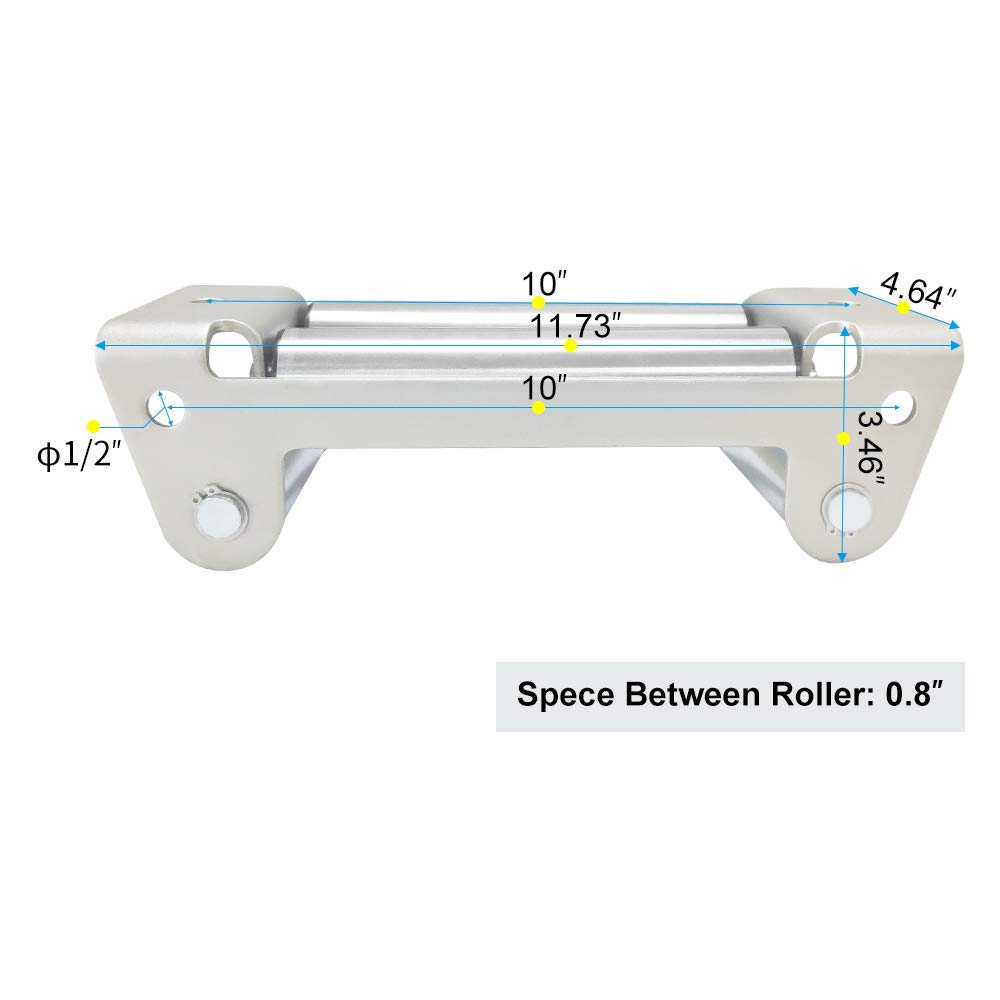 RUGCEL WINCH Fairlead for Steel Cable 10 Bolt Pattern Black