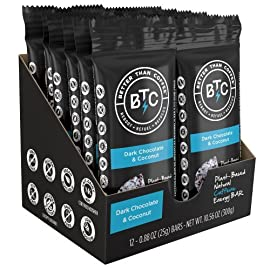 Better Than Coffee Energy Bars - Gluten Free, Vegan, Low Sugar, Low Carb with Added Plant Protein, 100 mg Caffeine Energy Bars 30 Please read individual flavor listings for full product details. Heads up: we created this pack manually, not super fancy packaging (padded envelope!) BUT... ... Allows you to test/taste each of the 4 flavors.