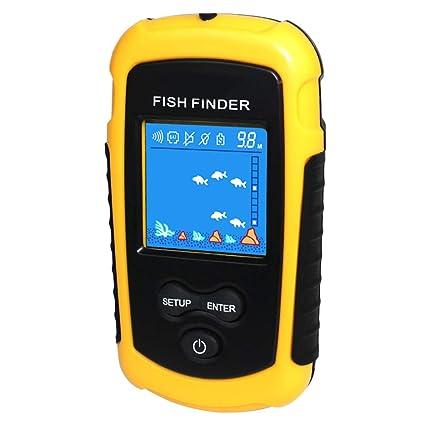 Amazon com: Fish Detection Sonar Sensor, Water Depth Display Fish