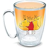 Tervis 1290039 Disney-Winnie The Pooh I'd Rather Be in Bed Tumbler with Wrap, 16oz Mug, Clear