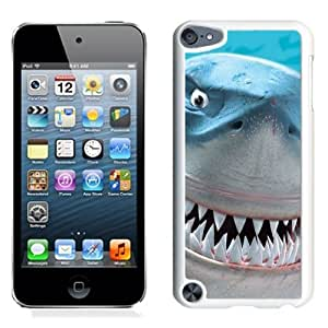 Lovely and Durable Cell Phone Case Design with Finding Nemo Bruce Shark iPod Touch 5 Wallpaper in White