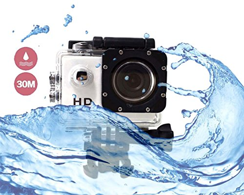 Cheap i-TecoSky 1080P Full HD Action Camera Sport Camera Sports Cam SJ4000 30M Waterproof Outdoor Mini Helmet Action Camera Diving Recorder Sports Action Camera Cam Camcorder DVR DV (white)