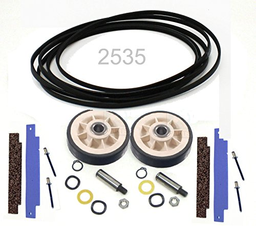 Parts & Accessories 33002535 306508 12001541 Belt Rollers NEW Dryer Maintenance Kit for Maytag ()