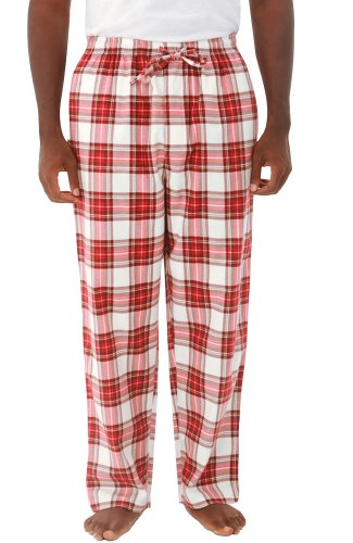 Alexander Del Rossa Del Rossa Mens Flannel Pajama Pants, Long Cotton Pj Bottoms, Medium Aqua Green...