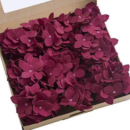 Ling's moment Vintage Artificial Hydrangea Flowers Berry 9pcs for Wedding Bouquets Centerpieces Arrangements DIY Holiday Party Home Décor