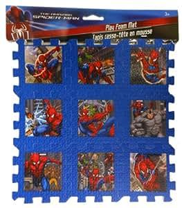 Amazon Com Marvel Spiderman 9 X 9 Play Foam Puzzle Mat