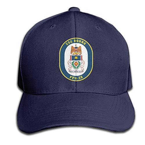 Navy USS Boone FFG-28 Vinyl Transfer Men's Casquette Hat