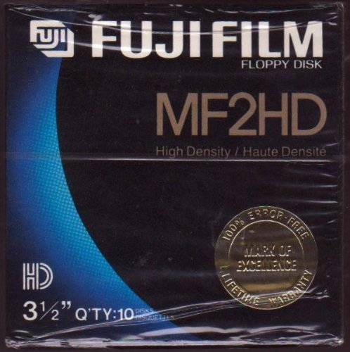 Fuji Film Floppy Disk MF2HD 3.1/2 QTY 10 by Fuji                                                                         Fuji Fim