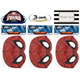 Spiderman Party Mask, 8 ct (Three Pack)
