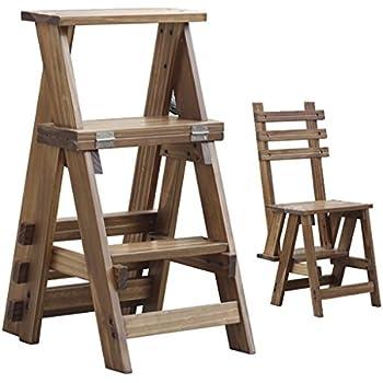 Amazon Com Solid Wood Step Stool 3 Step Climbing High