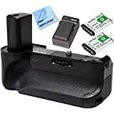 Vivitar Deluxe Battery Power Grip for Sony A6000 (VIV-PG-A6000) with Battery pack Bundle Includes, 2x BX1 1600MAH Battery Pack + Battery Charger for BX1 + Micro Fiber Cloth