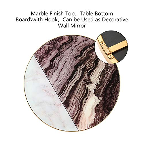 Amazon.com: Mesa de cristal con acabado de mármol, mesa ...
