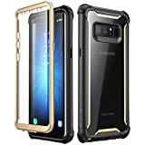 i-Blason, Samsung Galaxy Note 8 case,Full-body Rugged Clear Bumper Case with Built-in Screen Protector for Samsung Galaxy Note 8 2017 Release (Black/Gold)