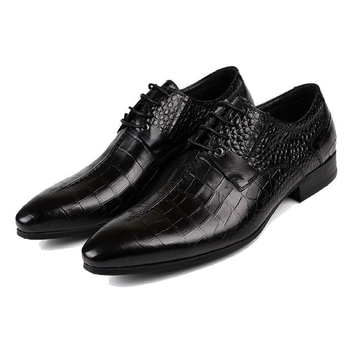 NIUMT Chaussures en Cuir pour Hommes Chaussures De Style