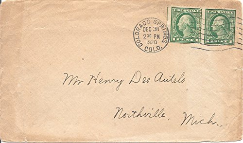 Us Postal Cover - 1920 US Postal Cover With Preferation Error US Postage Stamps