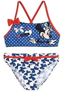543550bf19 Disney Costume da Bagno Bambina Minnie Mouse Mare e Piscina, Bikini ...