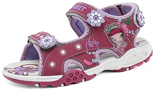 PET WITH ME Fashion Girls Mignon 2 Straps Hook and Loop Sandals Fuchsia9.5 M US Toddler Hot Sell.