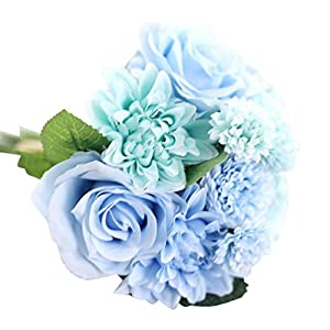 YJYdada Artificial Silk Fake Flowers Leaf Rose Floral Wedding Bouquet Party Home Decor 49