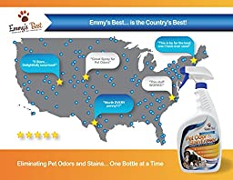 Powerful Pet Odor Eliminator & Urine Remover Exclusive Enzyme Cleaner Takes Out Tough Stains, Odors