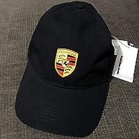 Official Licensed Porsche Black Crest Logo Cap