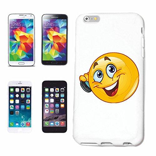 """cas de téléphone Samsung Galaxy S4 Mini """"SMILEY LAUGHING AT PHONE IPHONE """"sourire EMOTICON APP de SMILEYS SMILIES ANDROID IPHONE EMOTICONS IOS"""" Hard Case Cover Téléphone Covers Smart Cover pour Samsun"""