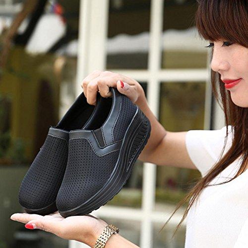 De Zapatos Respirables Malla A Zapatillas Plataforma Moda Deporte Logobeing Gimnasia Mujer Casuales wgHIfx