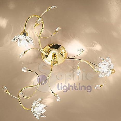 Lámpara de techo lámpara techo diseño moderno 3 luces brazos ...