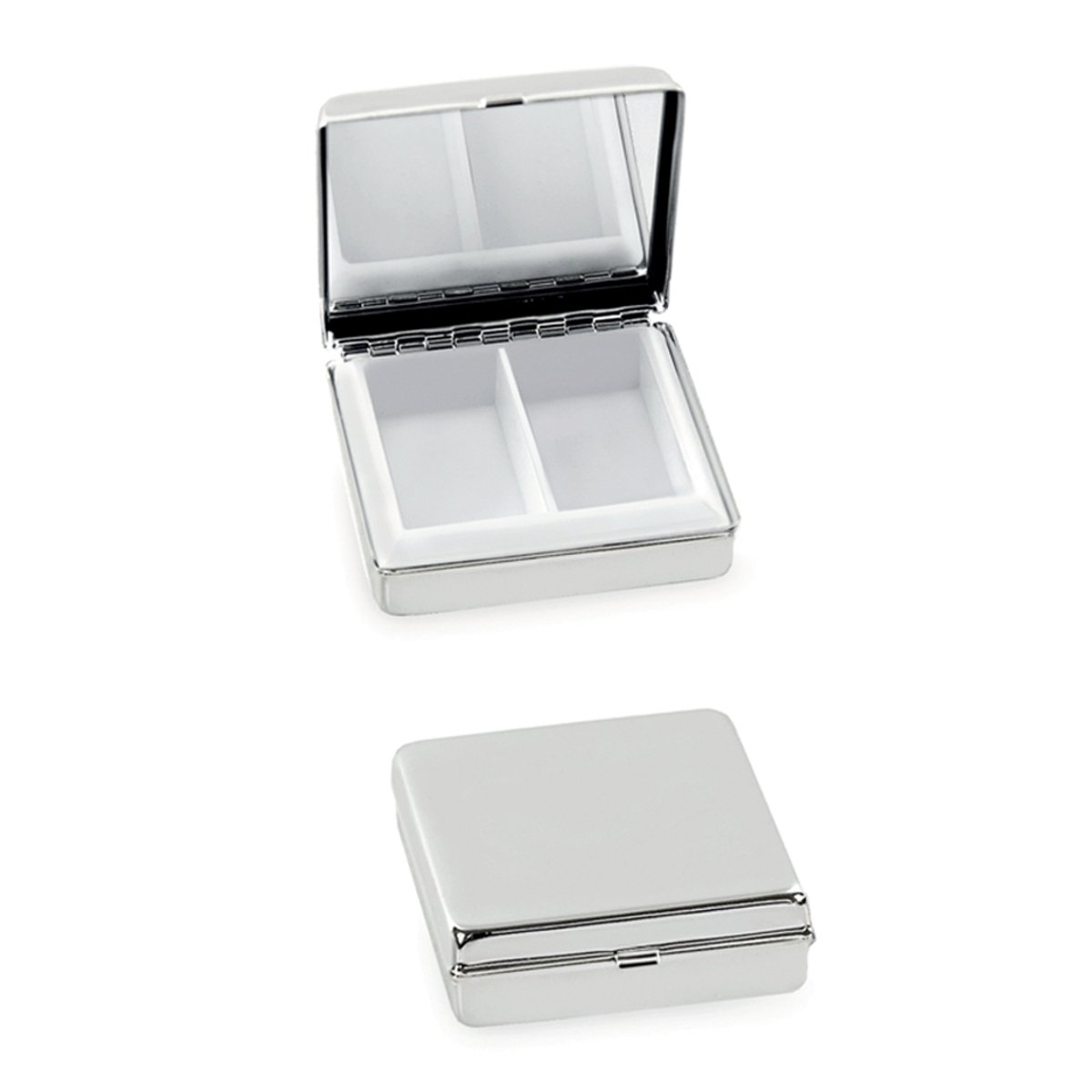 Silberkanne Pill Box Medica 5 X 5 X 1.5 cm Silver Plated And Durable Product