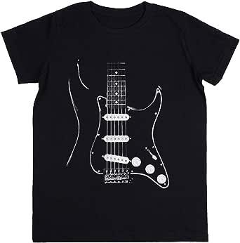 Wigoro Negro Glowstrings Niños Unisexo Chicos Chicas Negro Camiseta Kids Unisex T-Shirt