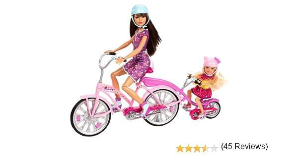 Amazon.es: Mattel X9057 - Bicicleta de Familia Barbie para Dos ...