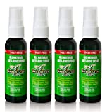 Skedattle All Natural Insect Repellent with Essential Oils Anti-Bug Spray, Travel Size, 2 fl oz, 4 Pack