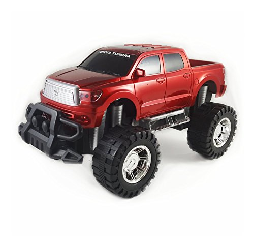 Off Road Friction Powered Toyota Tundra Toy Truck - Toy car with big wheels (Red) - Rc Truck Game