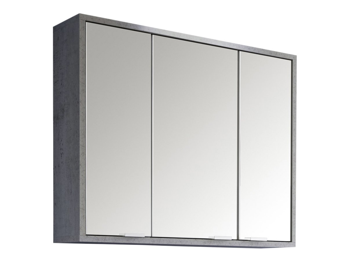 Trendteam spa40135 Meuble miroir salle de bain imitation béton Industry - L x H x P 77 x 46 x 35 cm
