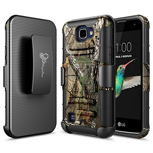 LG K4 Case, Spree / Optimus Zone 3 / Rebel LTE Case,NageBee [Heavy Duty] Armor Shock Proof Dual Layer [Swivel Belt Clip] Holster with [Kickstand] Combo Rugged Case - Camouflage (Outter Box For A Lg Optimus)