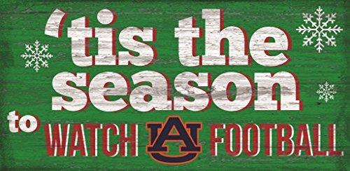 Auburn Tigers 6x12 inch Tis the Season to Watch Football Wood Sign