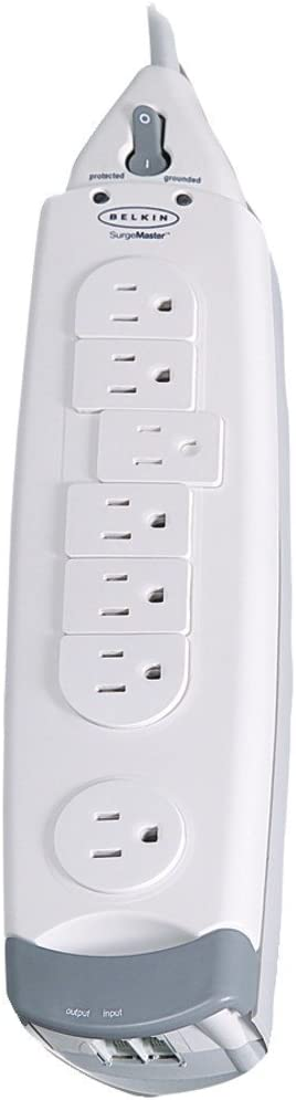 Belkin 7-Outlet SurgeMaster Home Series Power Strip Surge Protector with 12-Foot Power Cord, 1045 Joules (F9H710-12)