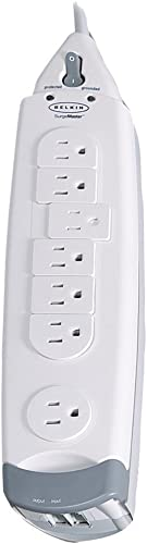 Belkin 7-Outlet SurgeMaster Home Series Power Strip Surge Protector with 12ft Cord, 1045 Joules, White