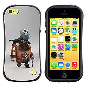 Suave TPU GEL Carcasa Funda Silicona Blando Estuche Caso de protección (para) Apple Iphone 5C / CECELL Phone case / / pirate skull character pc game captain /
